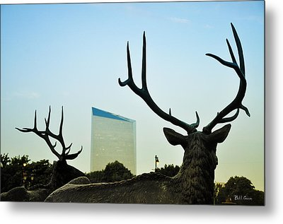 Cira Center From Eakins Oval Metal Print by Bill Cannon