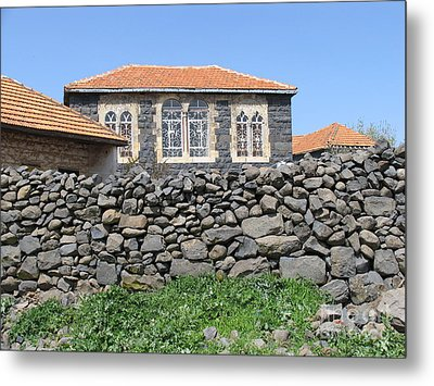 Circassian Village In Golan Metal Print