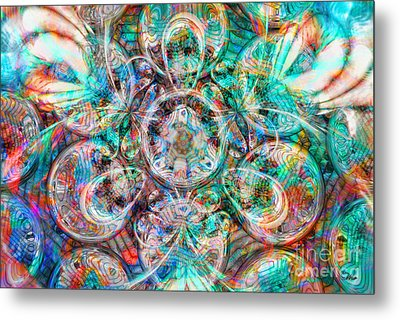 Circles Of Life Metal Print by Mo T