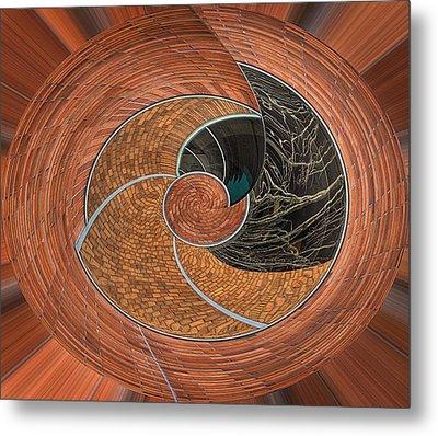 Circular Koin Metal Print by Jean Noren