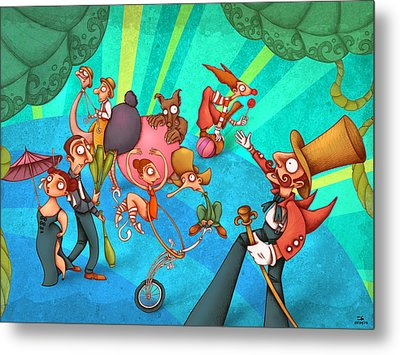 Circus 2 Metal Print by Autogiro Illustration
