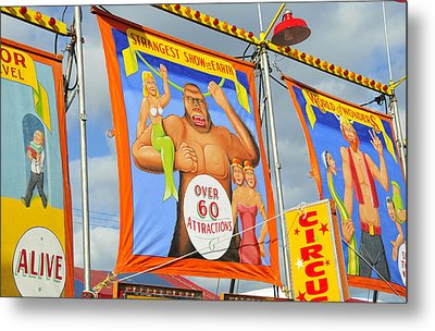 Circus Attractions Metal Print by David Lee Thompson