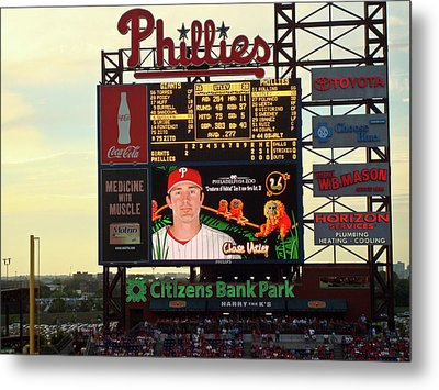 Citizens Bank Park 2 Metal Print by See Me Beautiful Photography