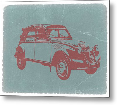 Citroen 2cv Metal Print by Naxart Studio