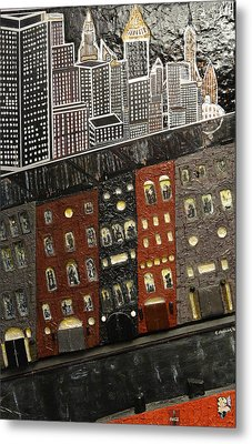 City Block After The Rain Metal Print