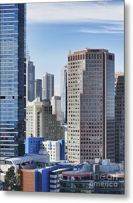 City Buildings Metal Print by Dave & Les Jacobs