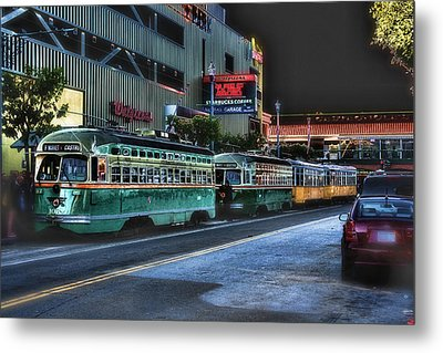 City Bus San Francisco Metal Print by Michael Cleere