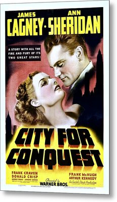 City For Conquest, Ann Sheridan, James Metal Print by Everett