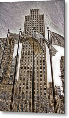City Glitz Metal Print by Anne Rodkin
