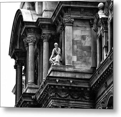 City Hall Edifice - Philadelphia Metal Print by Bill Cannon