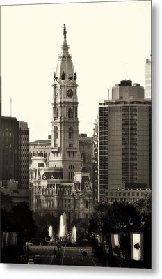 City Hall From The Parkway - Philadelphia Metal Print by Bill Cannon