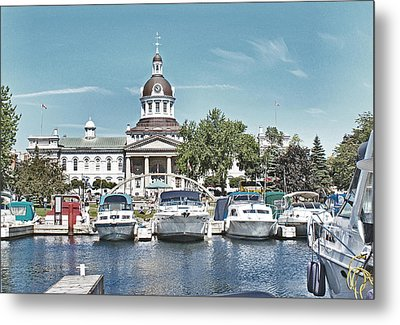 City Hall Kingston Ontario Canada Metal Print by Peggy Holcroft