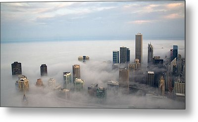 City In The Clouds Metal Print