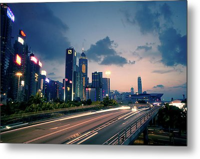 City Light Metal Print by Bbq