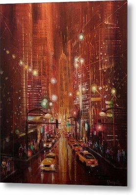 City Lights 2 Metal Print by Tom Shropshire