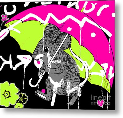 City Mouse Baby Juvenile Licensing Art Metal Print by Anahi DeCanio