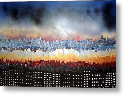 City Never Sleeps Metal Print