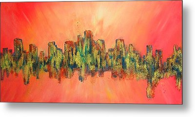 City Of Lights Metal Print by Mary Kay Holladay