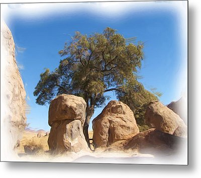 City Of Rocks State Park Metal Print by FeVa  Fotos