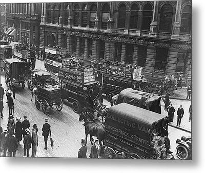 City Traffic Metal Print by Topical Press Agency