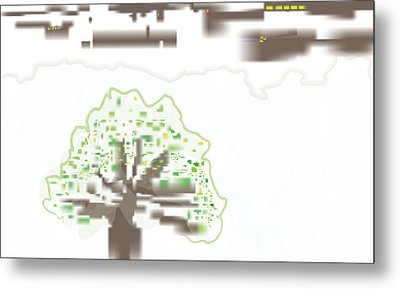 City Tree Metal Print by Kevin McLaughlin
