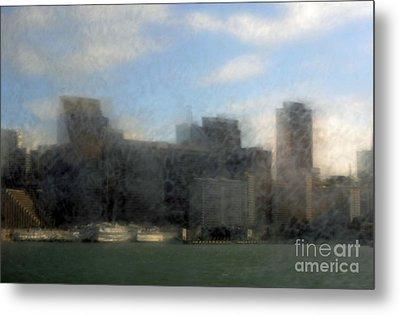 City View Through Window 3 Metal Print by Catherine Lau