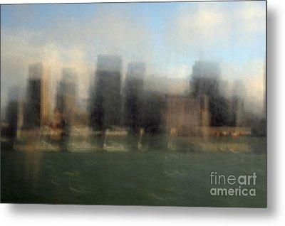 City View Through Window Metal Print by Catherine Lau