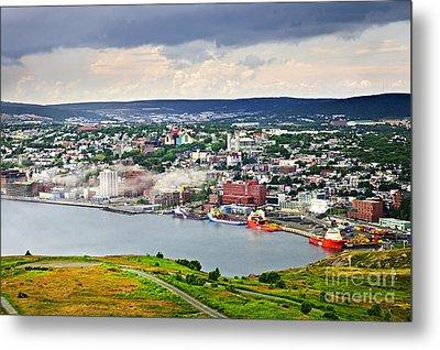 Cityscape Of Saint John's From Signal Hill Metal Print by Elena Elisseeva
