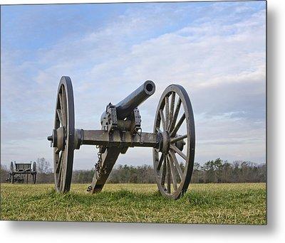 Civil War Cannon At Manassas National Battlefield Park - Virginia Metal Print by Brendan Reals