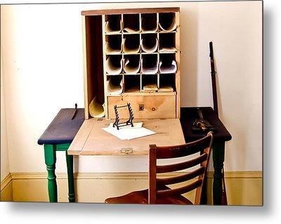 Civil War Desk Metal Print by Trish Tritz