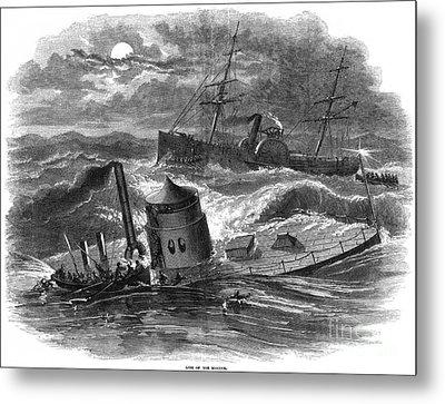 Civil War: Monitor Sinking Metal Print by Granger