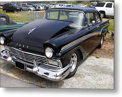 Classic Black Ford Dream Machine 7d15175 Metal Print by Wingsdomain Art and Photography