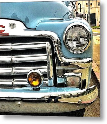 Classic Car Headlamp Metal Print by Julie Gebhardt