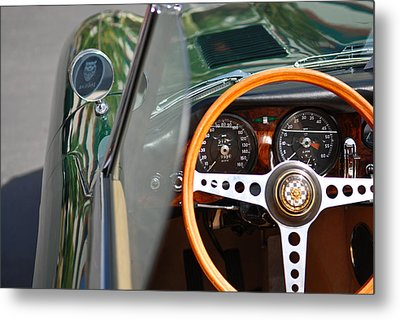 Metal Print featuring the photograph Classic Green Jaguar Artwork by Shane Kelly