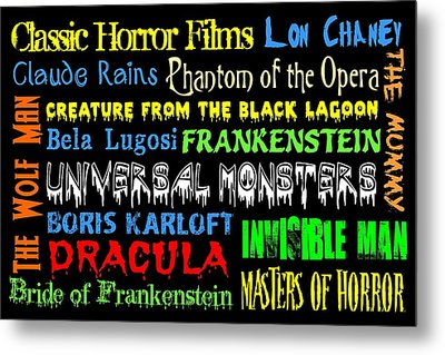 Classic Horror Films Metal Print by Jaime Friedman