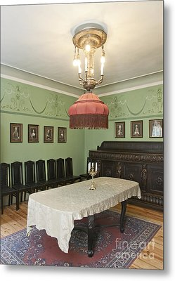 Classic Luxury Dining Room Metal Print