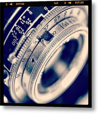 #classic #vintage #retro #lense #camera Metal Print by Ritchie Garrod