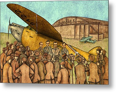 Classical Planes 1 Metal Print by Autogiro Illustration