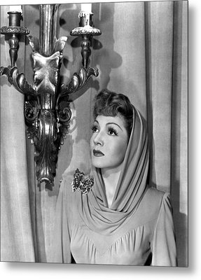 Claudette Colbert Metal Print by Everett