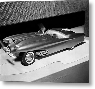 Clay Model Of A Ford Dream Car, 1952 Metal Print by Everett