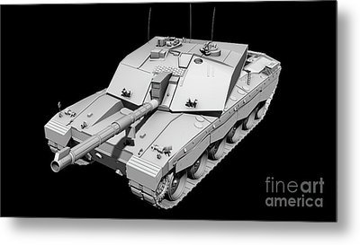 Clay Render Of A Challenger II Tank Metal Print by Rhys Taylor