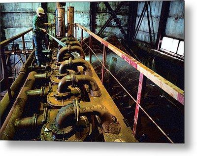 Cleaning Gold Mining Equipment Metal Print by Ria Novosti
