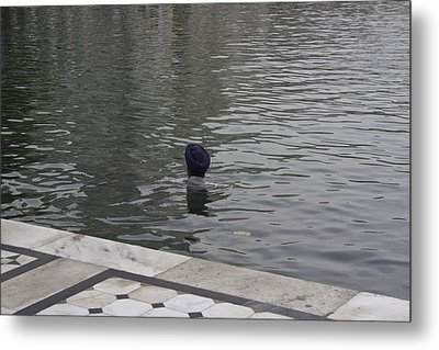 Cleaning The Sarovar In The Golden Temple Metal Print by Ashish Agarwal