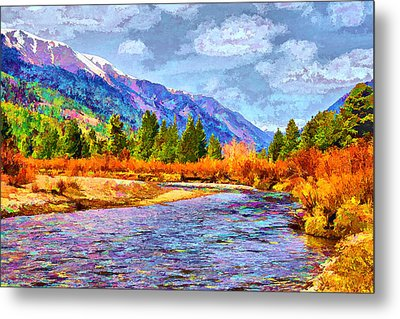 Clear Creek Vista Metal Print by Brian Davis