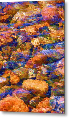 Metal Print featuring the digital art Clear Creek Waters by Brian Davis