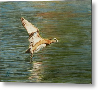Clear For Takeoff Metal Print