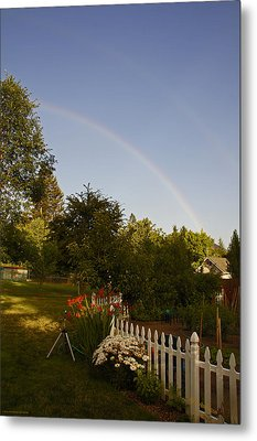 Clear Sky Rainbow Metal Print by Mick Anderson
