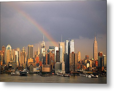Metal Print featuring the photograph Clearing Skies Over Manhattan by James Kirkikis