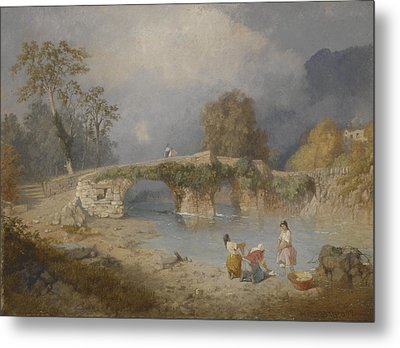 Clearing Up For Fine Weather Beddgelert North Wales 1867 Metal Print by James Baker Pyne