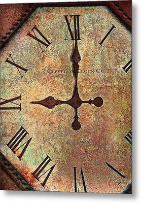 Clevedon Clock Metal Print
